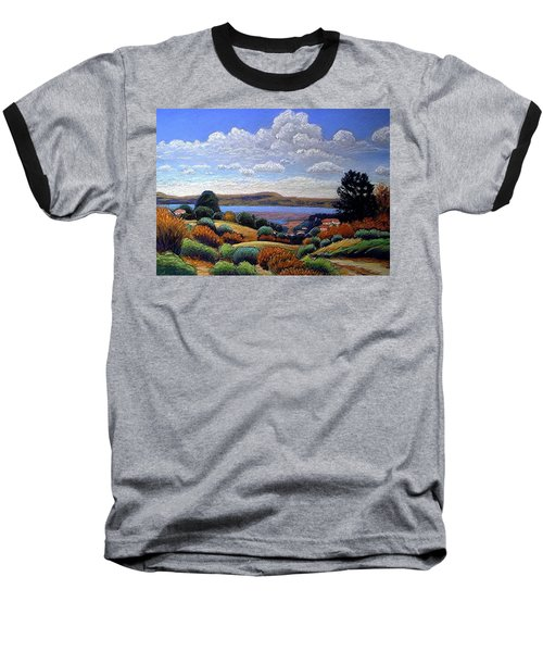 Baseball T-Shirt featuring the painting Above San Mateo by Gary Coleman