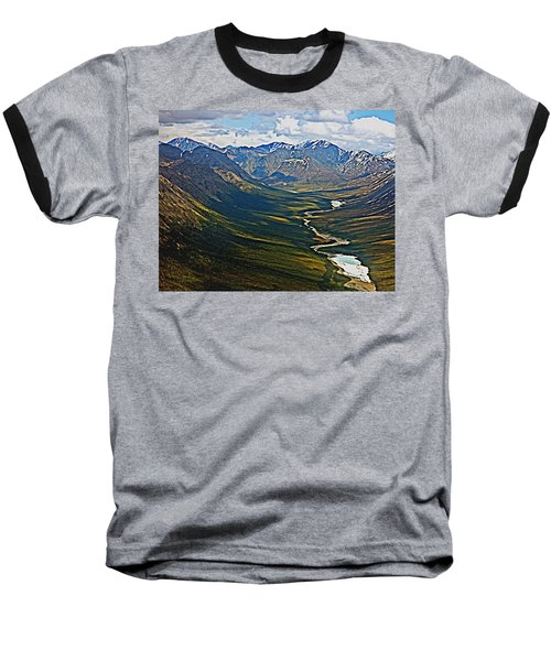 Above The Arctic Circle Baseball T-Shirt by John Haldane