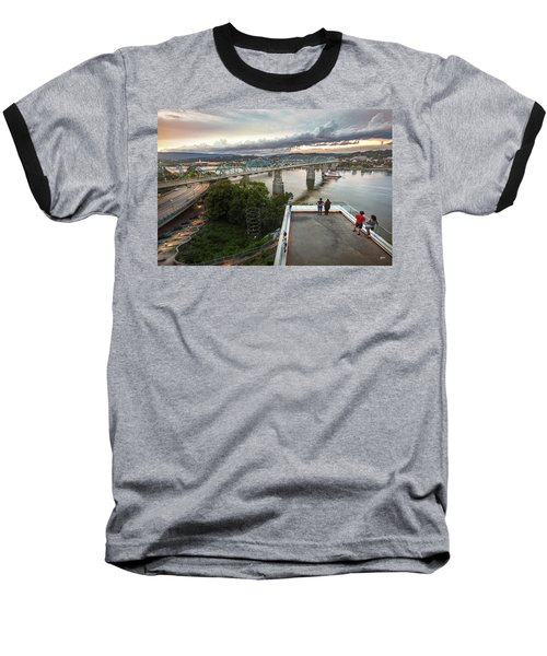 Above The Bluff, Musuem View Baseball T-Shirt by Steven Llorca