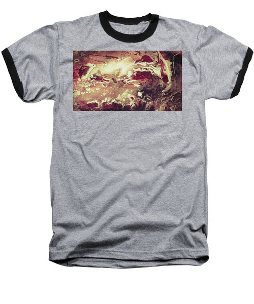 Above The Clouds - Contemporary Earth Tone Abstract Painting Baseball T-Shirt