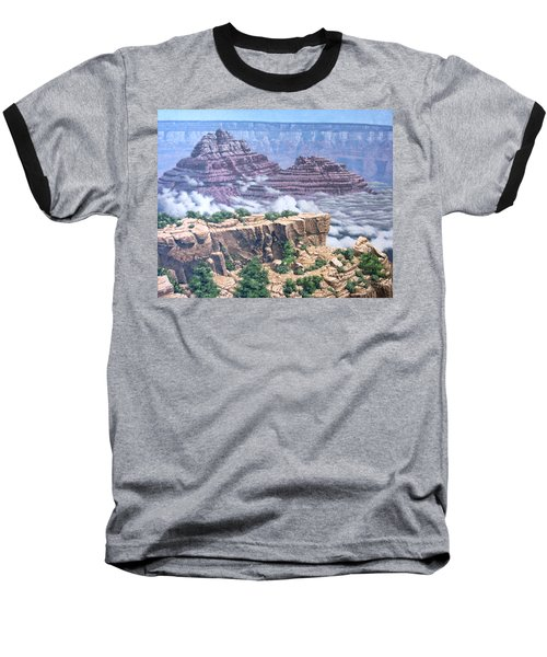 Above The Clouds Grand Canyon Baseball T-Shirt by Jim Thomas