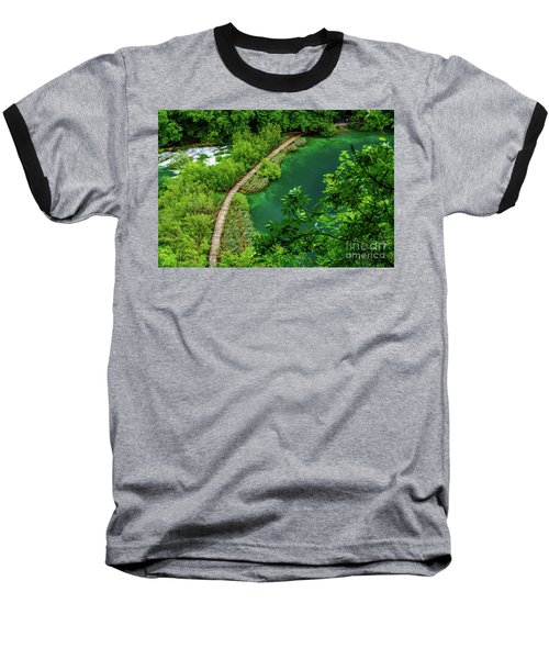 Above The Paths At Plitvice Lakes National Park, Croatia Baseball T-Shirt