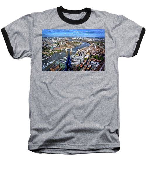 Baseball T-Shirt featuring the photograph Above The Shadow Of The Shard by Jim Albritton