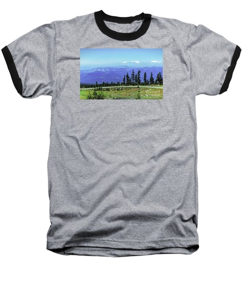 Above The Smoke Baseball T-Shirt by Nancy Marie Ricketts