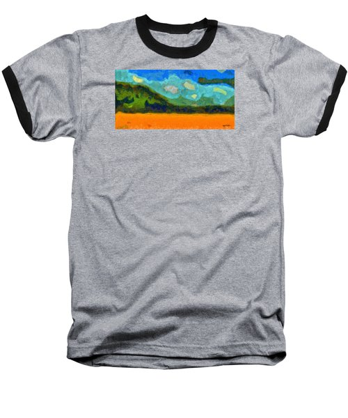 Baseball T-Shirt featuring the digital art Above The Woods by Spyder Webb