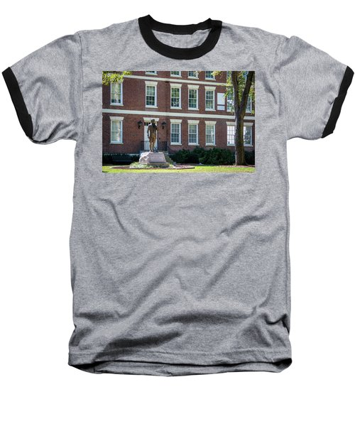 Baseball T-Shirt featuring the photograph Abraham Baldwin Statue At Uga by Parker Cunningham