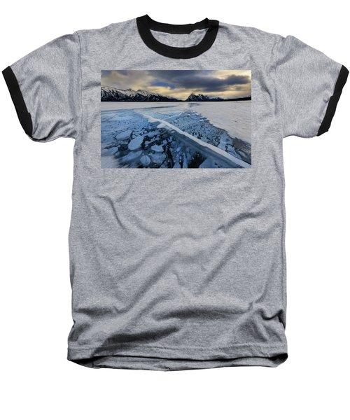 Abraham Lake Ice Bubbles Baseball T-Shirt