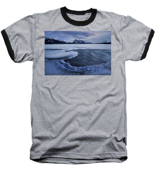 Abraham Lake Sans Bubbles Baseball T-Shirt