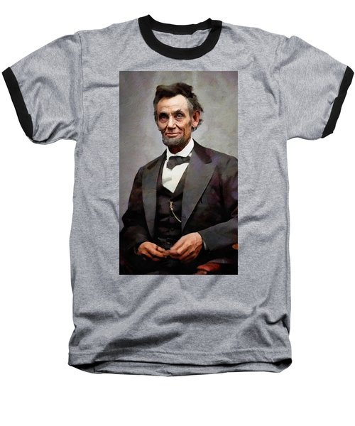 Abraham Lincoln 15 Baseball T-Shirt