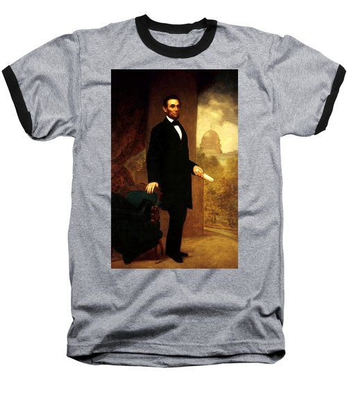 Abraham Lincoln 24 Baseball T-Shirt