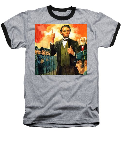Abraham Lincoln 6 Baseball T-Shirt