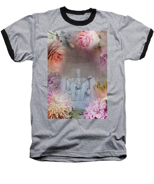 Abraham Lincoln Memorial At Spring Baseball T-Shirt by Marianna Mills