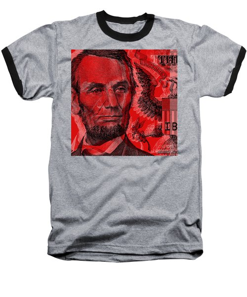 Abraham Lincoln Pop Art Baseball T-Shirt