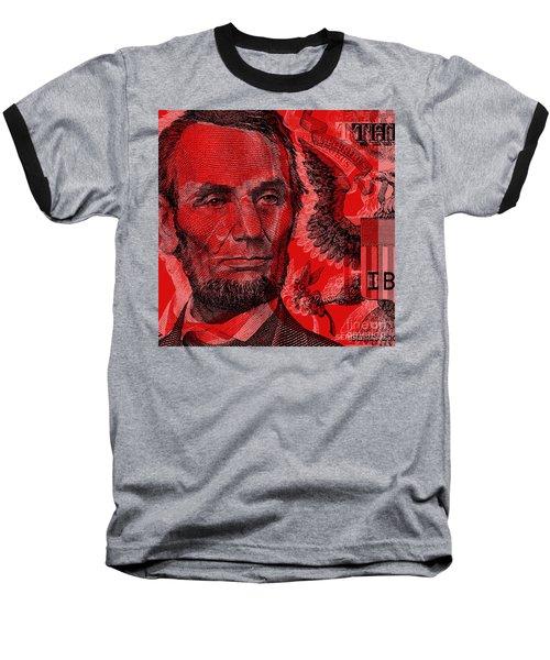 Abraham Lincoln Pop Art Baseball T-Shirt