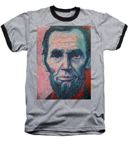 Abraham Lincoln Baseball T-Shirt by Regina WARRINER