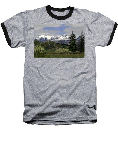 Absaroka Mts Wyoming Baseball T-Shirt