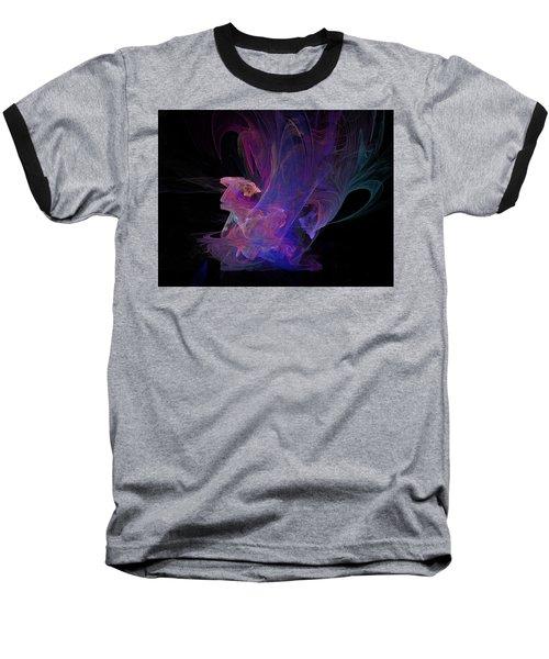 Abstact Pink Swan Baseball T-Shirt