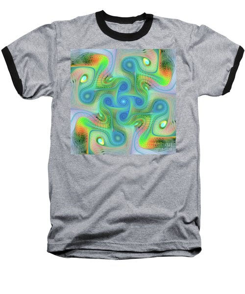 Baseball T-Shirt featuring the digital art Abstract Gnarl by Deborah Benoit