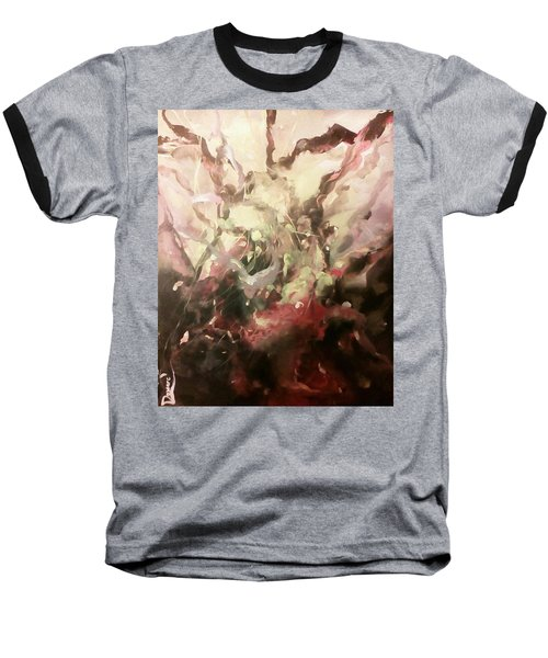 Baseball T-Shirt featuring the painting Abstract #01 by Raymond Doward