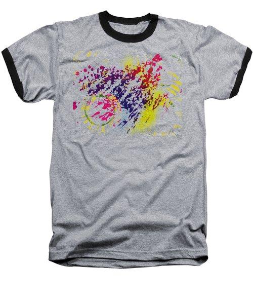 Abstract #1 Baseball T-Shirt by Lori Kingston