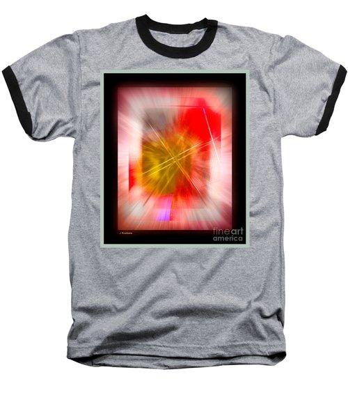 Abstract 530-2016 Baseball T-Shirt by John Krakora