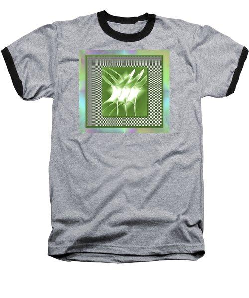 Abstract 54 Baseball T-Shirt by Iris Gelbart