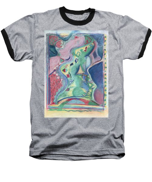 Abstract 92 - Inner Landscape Baseball T-Shirt