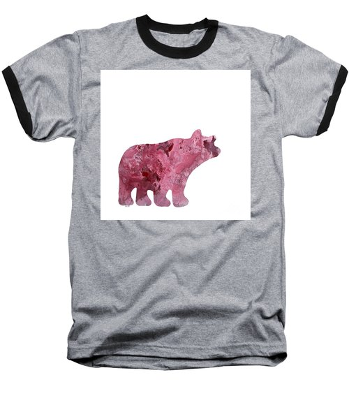 Abstract Acrylic Painting Bear Baseball T-Shirt