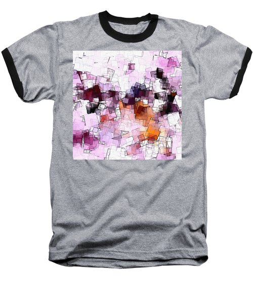 Abstract And Minimalist Art Made Of Geometric Shapes Baseball T-Shirt by Ayse Deniz
