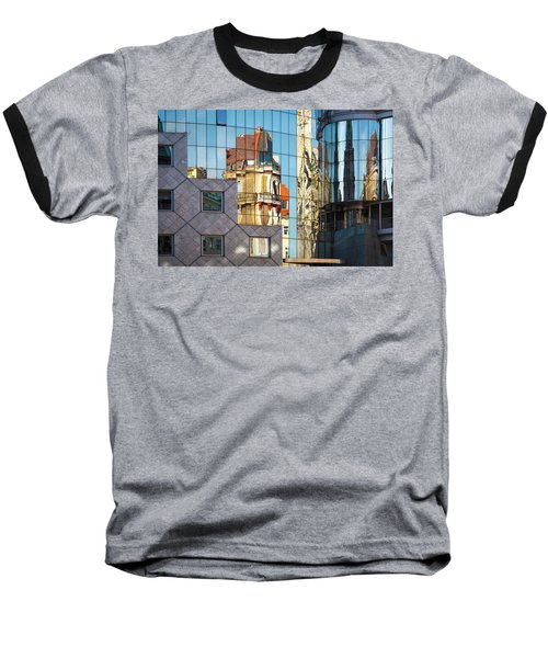 Abstract Architecture Baseball T-Shirt by Teemu Tretjakov
