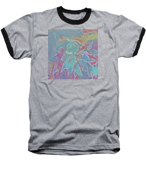 Baseball T-Shirt featuring the painting Abstract Art Fun Flower By Sherriofpalmspring by Sherri  Of Palm Springs