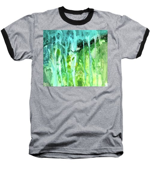 Abstract Art Waterfall Baseball T-Shirt