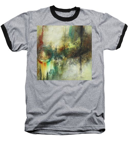 Abstract Art With Blue Green And Warm Tones Baseball T-Shirt