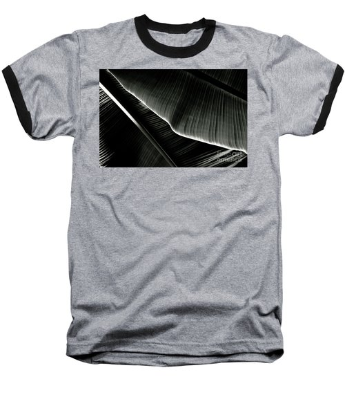 Abstract Banana Leaf Baseball T-Shirt