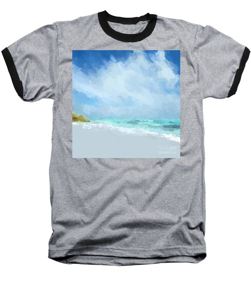 Abstract Beach Afternoon  Baseball T-Shirt by Anthony Fishburne