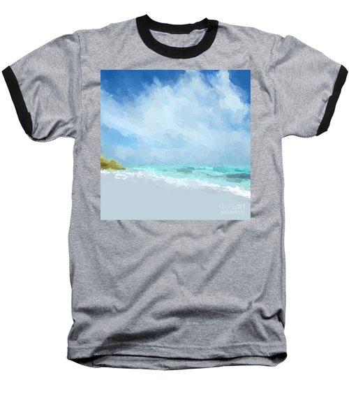 Abstract Beach Afternoon  Baseball T-Shirt