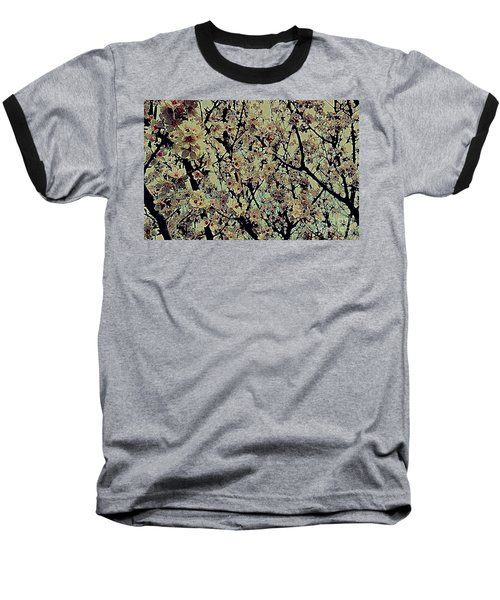 Abstract Blossoms Baseball T-Shirt