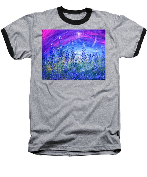 Abstract Bluebonnets Baseball T-Shirt