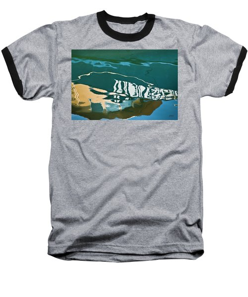Baseball T-Shirt featuring the photograph Abstract Boat Reflection by Dave Gordon