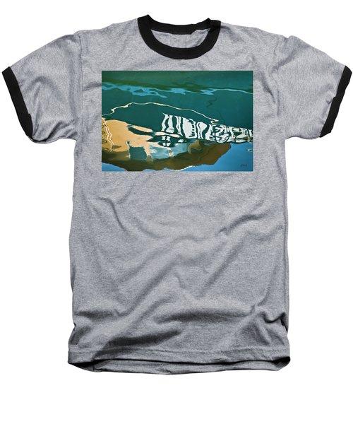 Abstract Boat Reflection Baseball T-Shirt