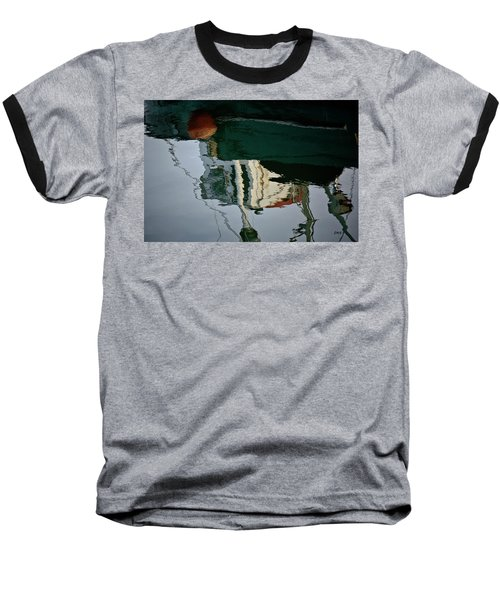 Abstract Boat Reflection II Baseball T-Shirt
