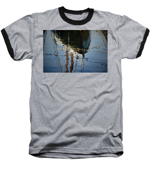 Abstract Boat Reflection IIi Baseball T-Shirt