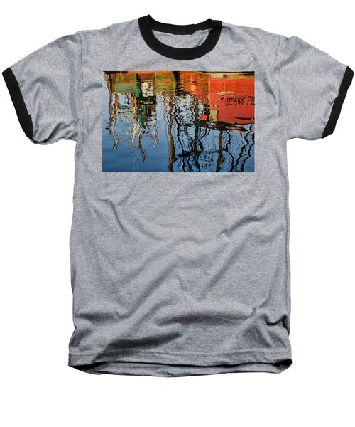 Abstract Boat Reflections Iv Baseball T-Shirt
