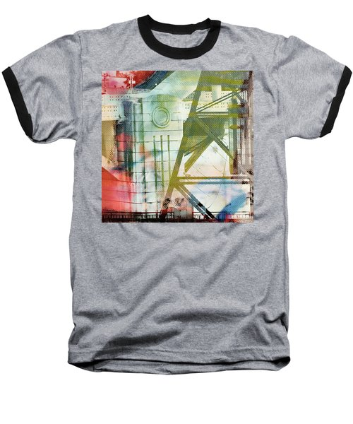 Abstract Bridge With Color Baseball T-Shirt