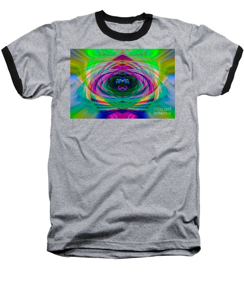 Abstract Catherine Wheel Baseball T-Shirt