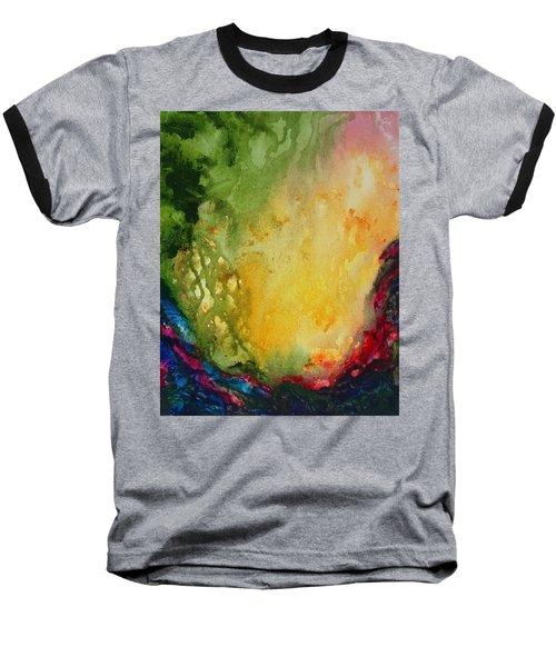 Abstract Color Splash Baseball T-Shirt