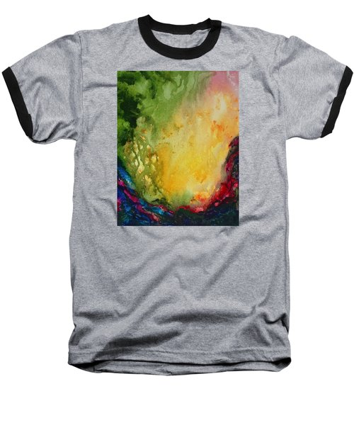 Abstract Color Splash Baseball T-Shirt