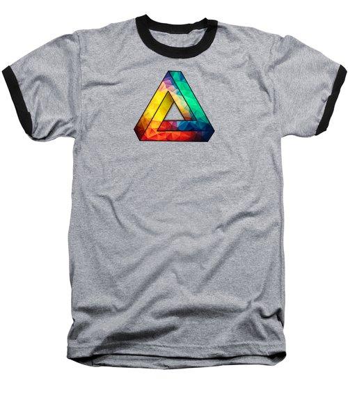 Abstract Color Wave Flash Baseball T-Shirt