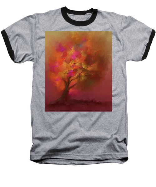 Abstract Colourful Tree Baseball T-Shirt