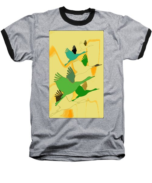 Abstract Cranes Baseball T-Shirt